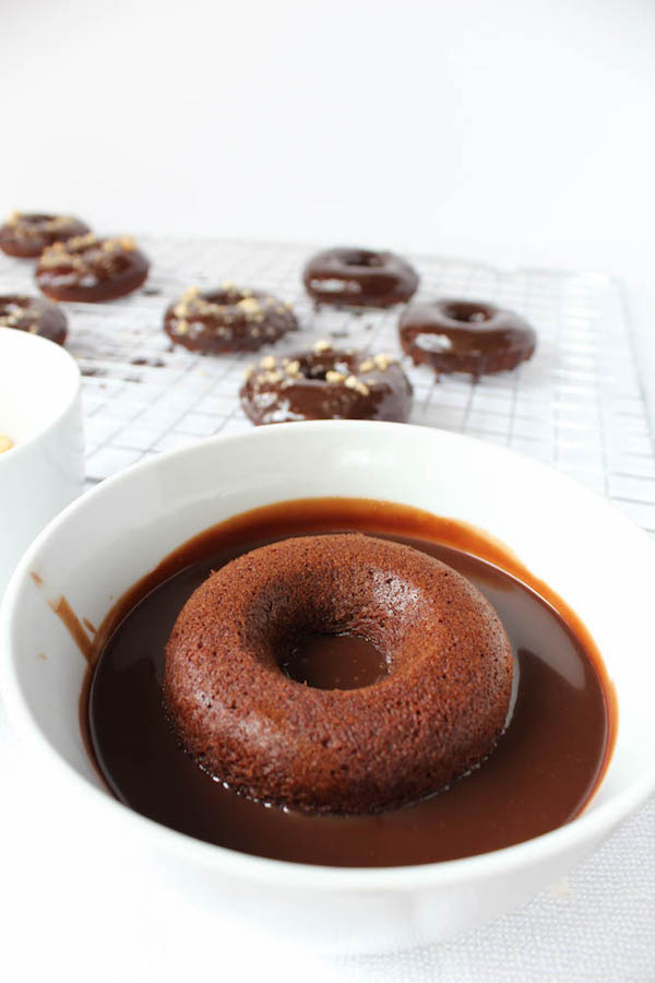 Nutella Donuts dipped in Nutella Ganache