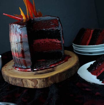 Fire and Blood Cake. A dessert fit for a Dragon!