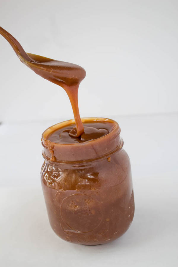 Beautiful, thick, mouth-watering homemade caramel sauce that you can use as a topping for ice-cream or any dessert!