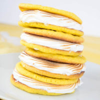 Lemon Meringue Sugar Cookie Sandwiches