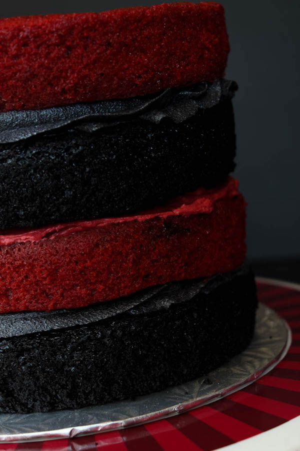 House Targaryen Fire and Blood Layer Cake recipe on queensleeappetit.com