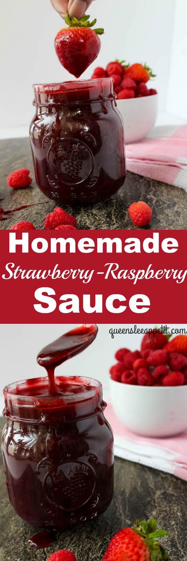 Strawberry-Raspberry Sauce recipe on queensleeappetit.com!