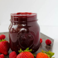 Homemade Strawberry-Raspberry Sauce