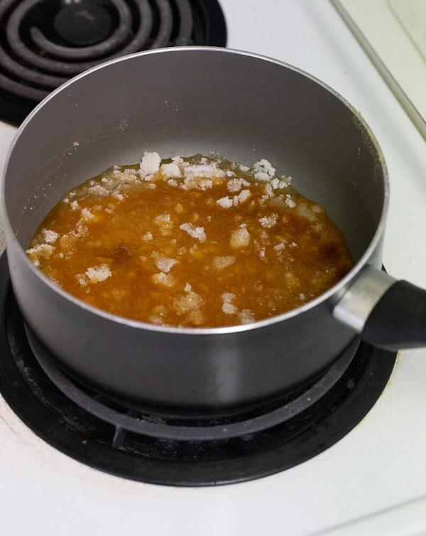 salted caramel sauce step-by-step photos