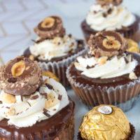 Mini Ferrero Rocher Stuffed Nutella Cheesecakes