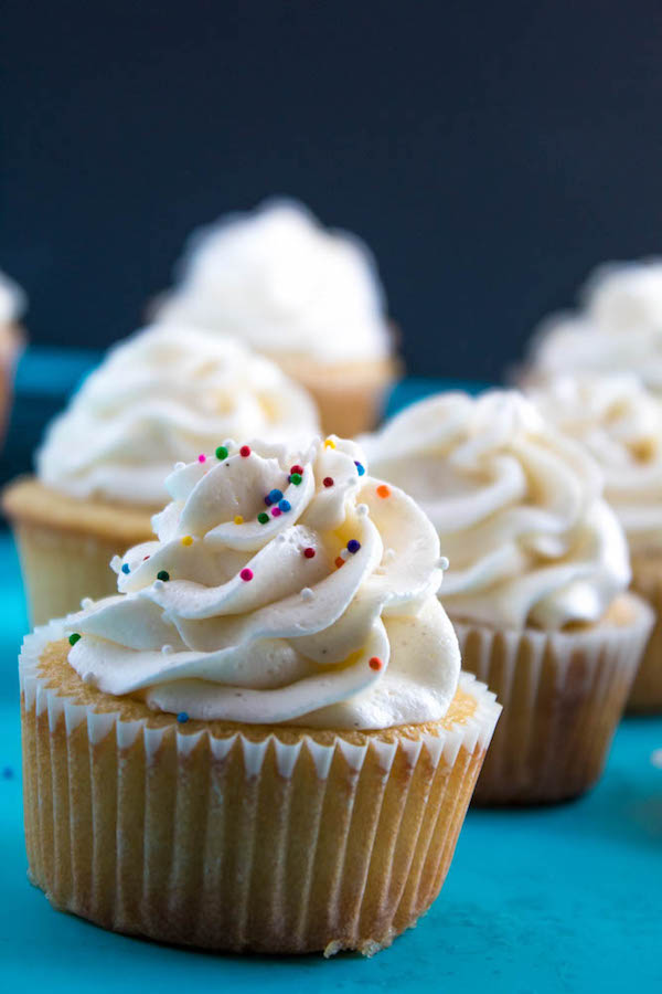 A light, fluffy, and dreamy Vanilla Buttercream Frosting. Perfect for frosting cakes, cupcakes, and more!