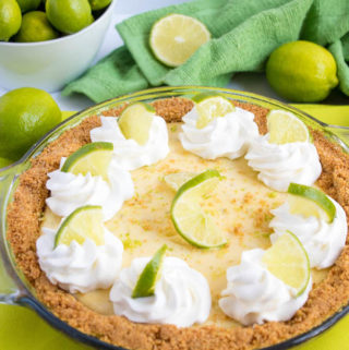 This classic Key Lime Pie is absolutely amazing! It's smooth, creamy and bursting with lime flavour!