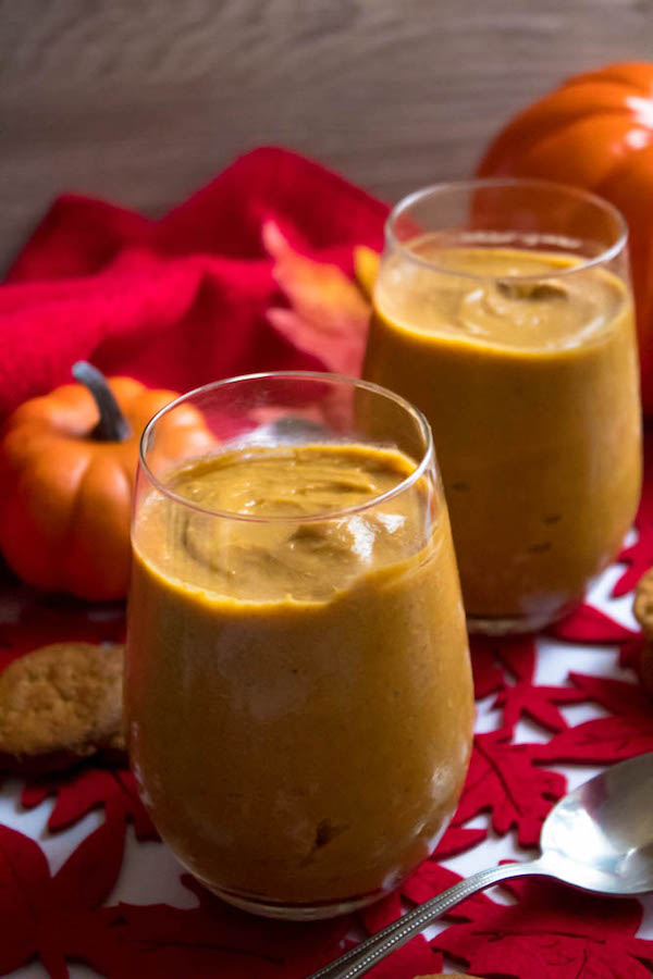 This Homemade Pumpkin Pudding is smooth, creamy and full of pumpkin flavour. Serve it with a dollop of whipped cream and a gingersnap cookie and this makes for a perfect fall dessert!