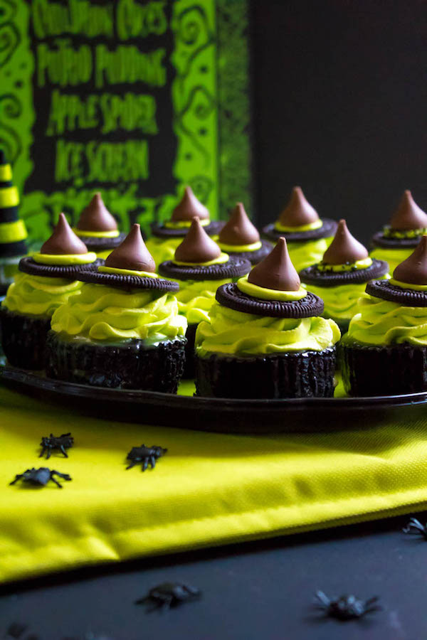 These Mini Melting Witch Cheesecakes are cute, fun and easy to make. They're the perfect dessert to serve at your Halloween party!