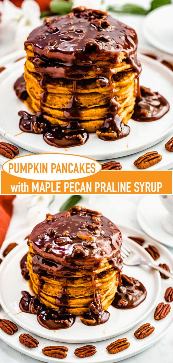 pumpkin pancakes pin image