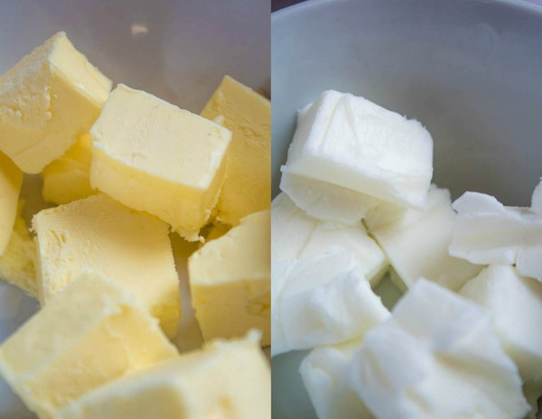 cold butter and cold shortening cut into cubes for the perfect pie crust