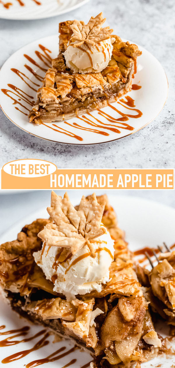 homemade apple pie recipe pin image