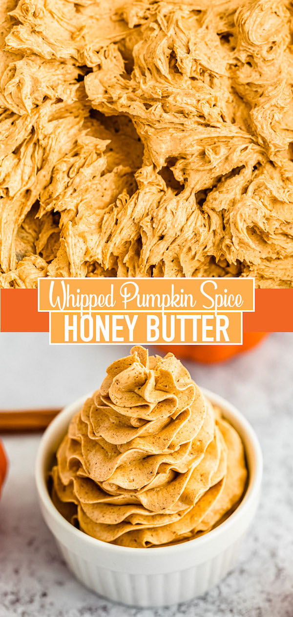 how to make whipped pumpkin spice honey butter pin image