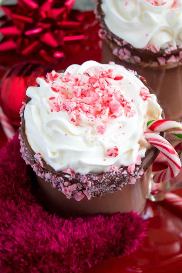 Candy Cane Hot Chocolate Recipe Queenslee App 233 Tit