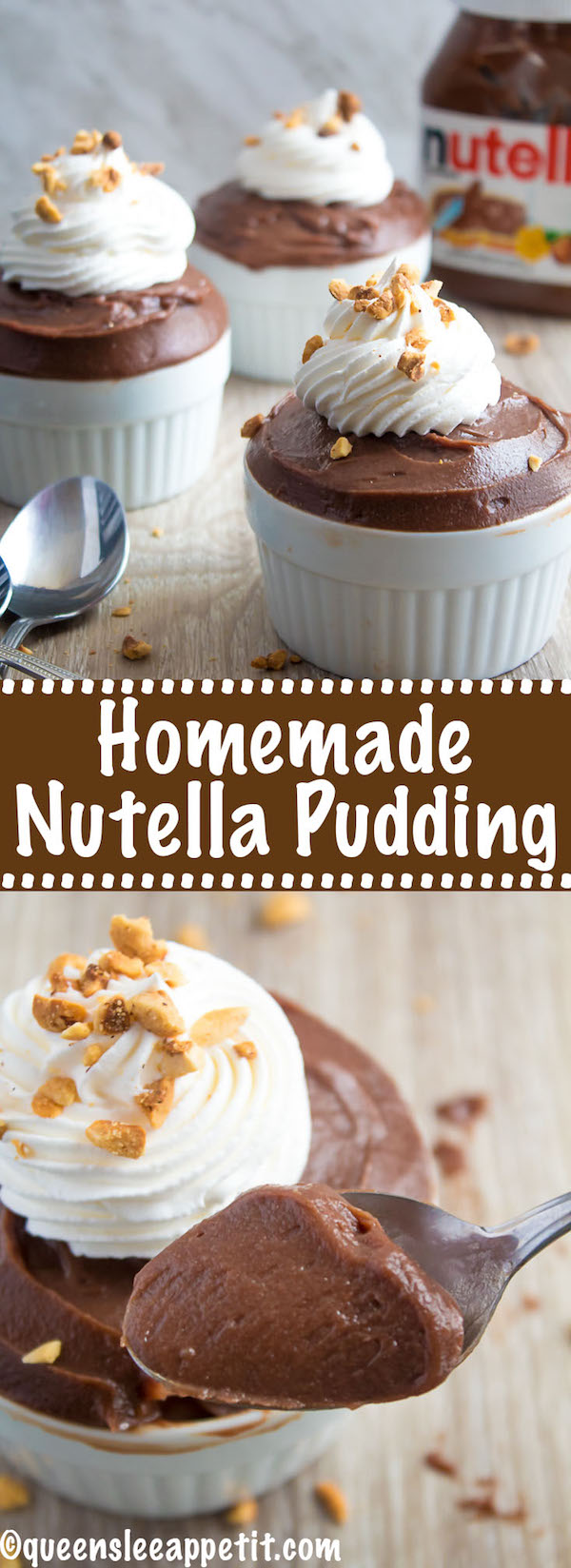 This Homemade Nutella Pudding is super velvety, thick and decadent. Packed with loads of Chocolate-hazelnut flavour, it's a tasty treat everyone will enjoy!