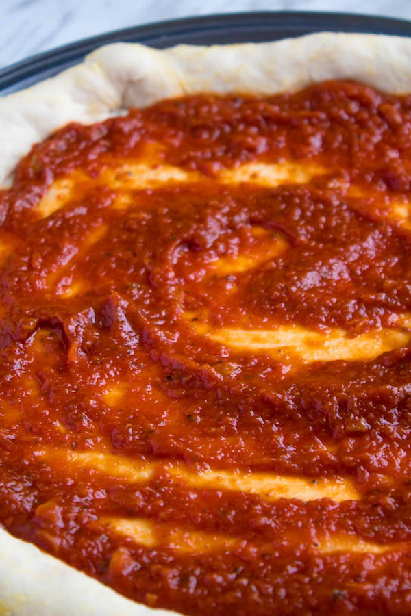 This Homemade Pizza Sauce is the perfect addition to your homemade pizza. Easy to make and packed with flavour — once you make this sauce, you'll never resort to store bought again!