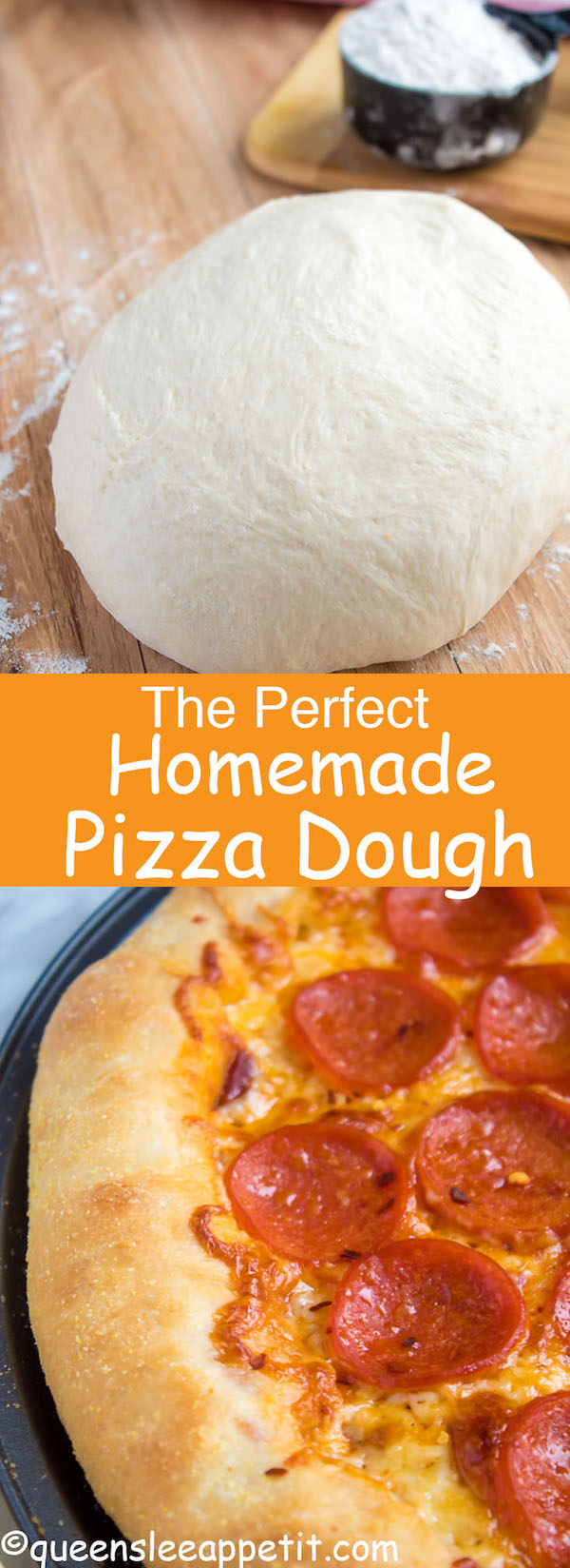 This Homemade Pizza Dough is super quick and easy to make. It's the perfect base for all your pizza creations!