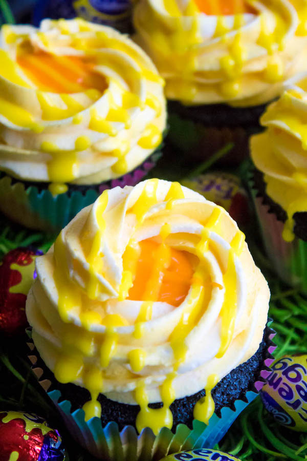 If you're a fan of Cadbury Creme Eggs, you're gonna fall in love with these Cadbury Creme Egg Cupcakes! These cupcakes are decadent, sweet, ooey and gooey. This is the perfect dessert for Easter!