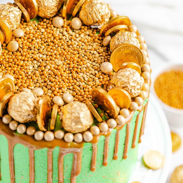 Pot of Gold Rainbow Cake