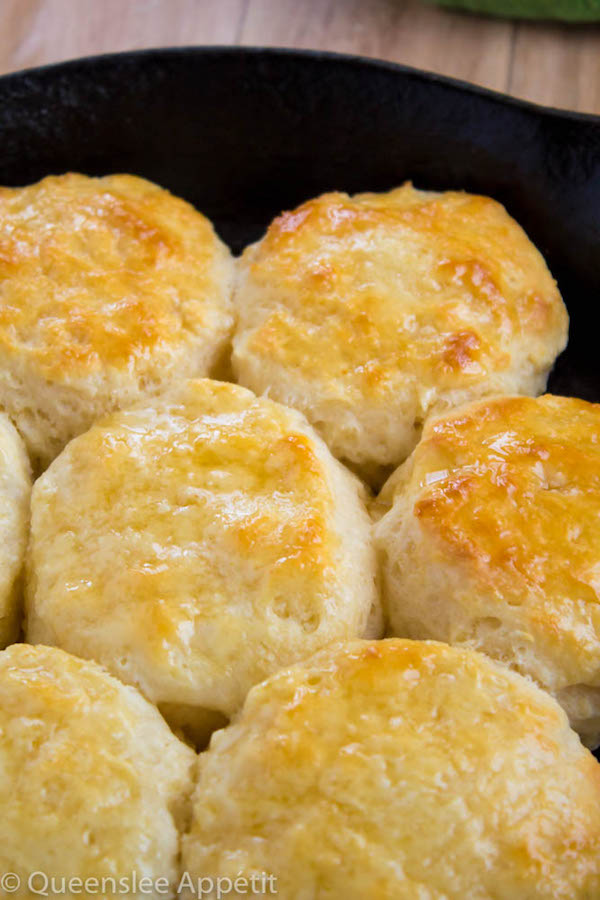 These Homemade Buttermilk Biscuits are super flaky, fluffy and buttery! These babies are perfect for any occasion.