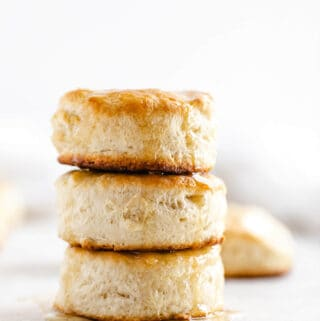 stack of three biscuits