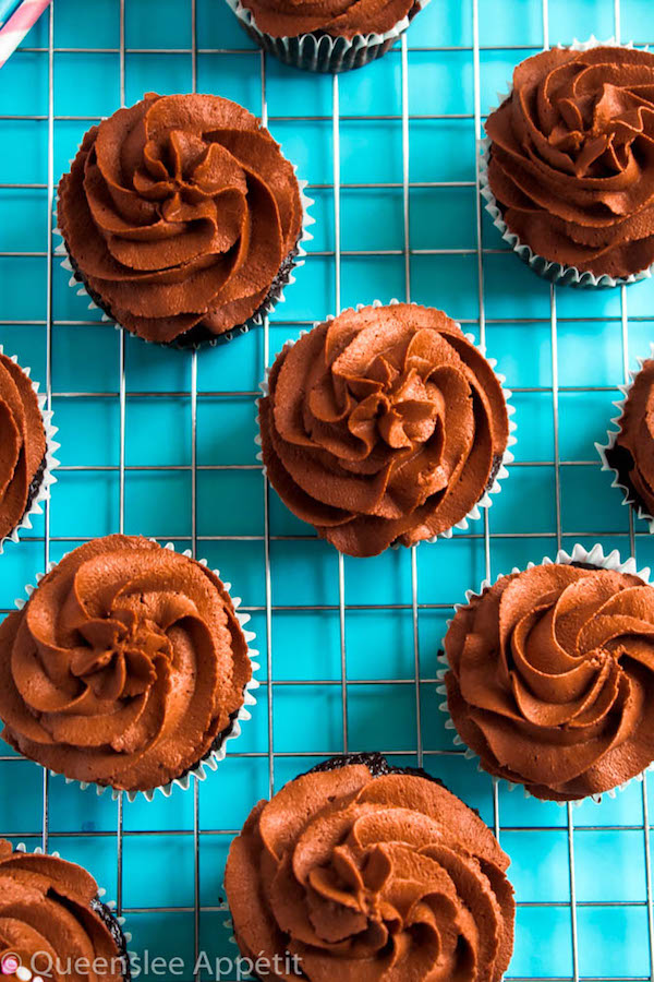 This Dreamy Vegan Chocolate Buttercream Frosting is perfectly rich, creamy and delicious. It's 100% dairy-free so it would pair perfectly with all of your favourite vegan cakes and cupcakes!