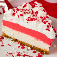 No-Bake Canada Day Cheesecake