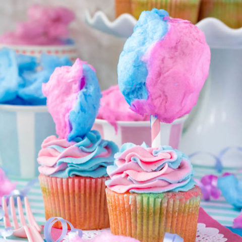 Cotton Candy is great. Cupcakes are great. Together, they make something even greater! These Cotton Candy Cupcakes are a super fun and delicious treat that kids (and your inner kid) will love!