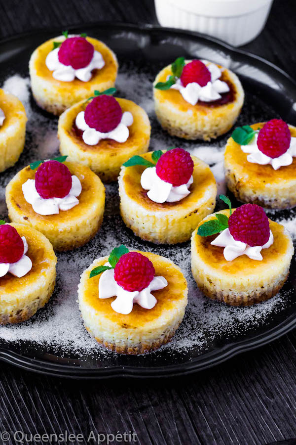 Classic Creme Brûlée and Creamy Cheesecake collaborate to make these incredible Mini Creme Brûlée Cheesecakes! With a custard based cheesecake topped with a yummy caramelized sugar topping, these mini treats are sure to be a huge hit!