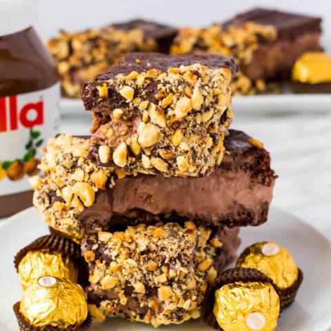 Nutella Brownie Ice Cream Sandwiches
