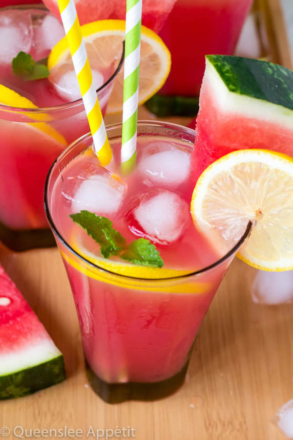 Sweet watermelon and tangy lemons collaborate to create this refreshing Watermelon Lemonade. This drink is the perfect way to cool down this summer!