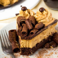 Coffee Brownie Cheesecake