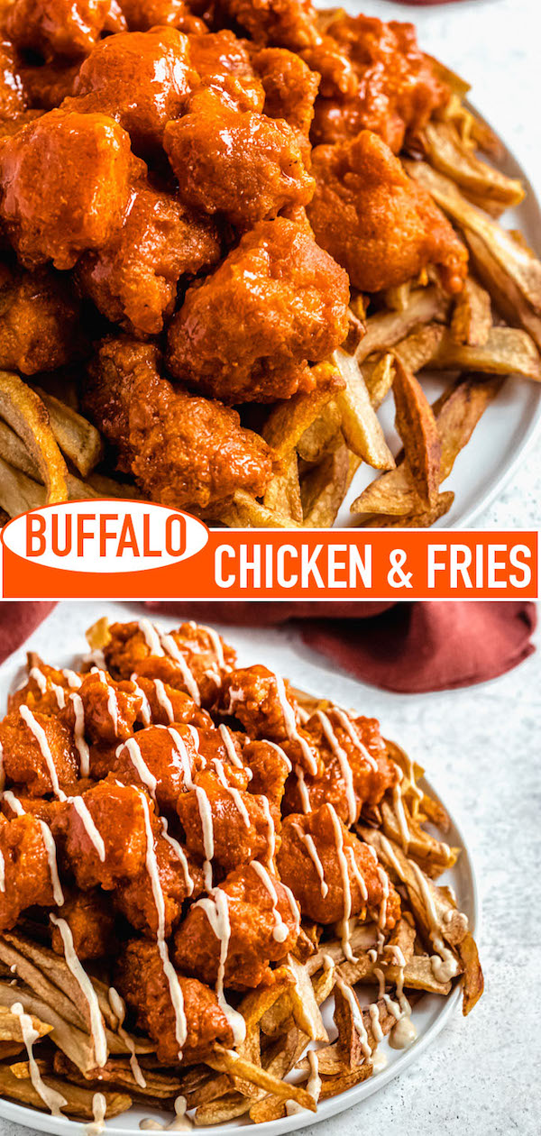 buffalo chicken and fries long pin image