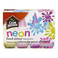 Club House Food Colour NEON LIQUID FOOD COLORING KIT of 4 colors (0.25 oz each) Pack Of 2