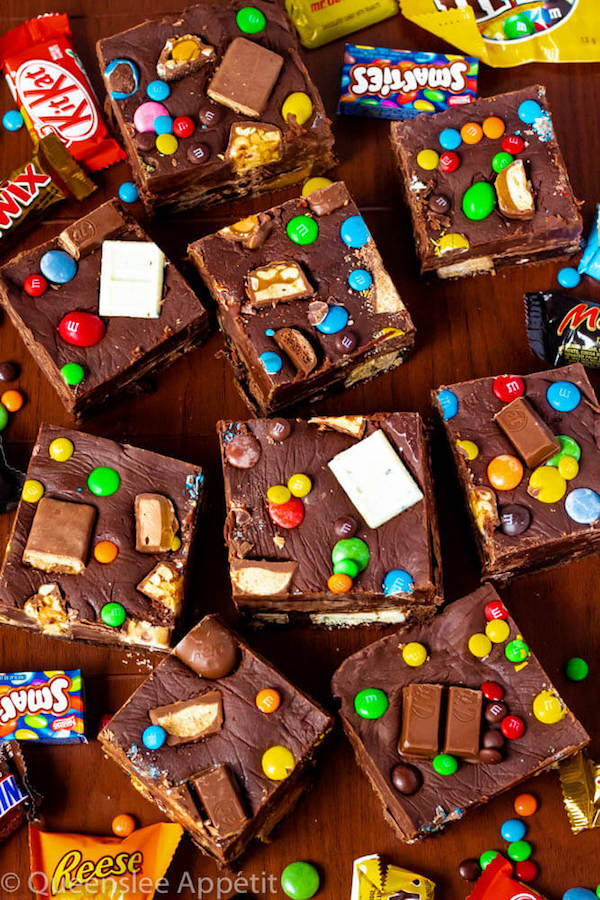 Halloween Candy Fudge Brownies