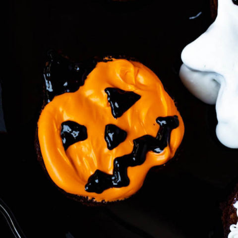 Jack-O-Lantern Brownies