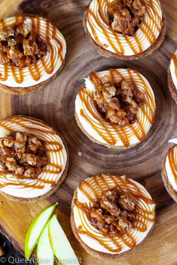 Salted Caramel Apple Crisp Cookie Sandwiches