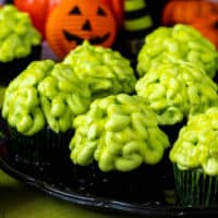 Zombie Brain Cupcakes