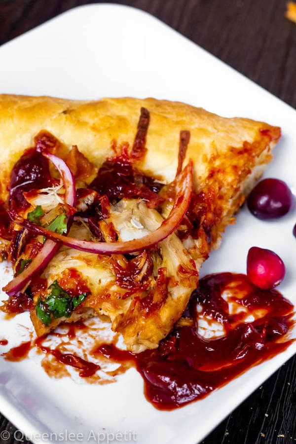 Cranberry BBQ Turkey Pizza