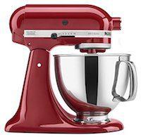 KitchenAid KSM150PSER Artisan Kipp-Küchenmaschine mit Gießschild, 5 Liter, Empire Red
