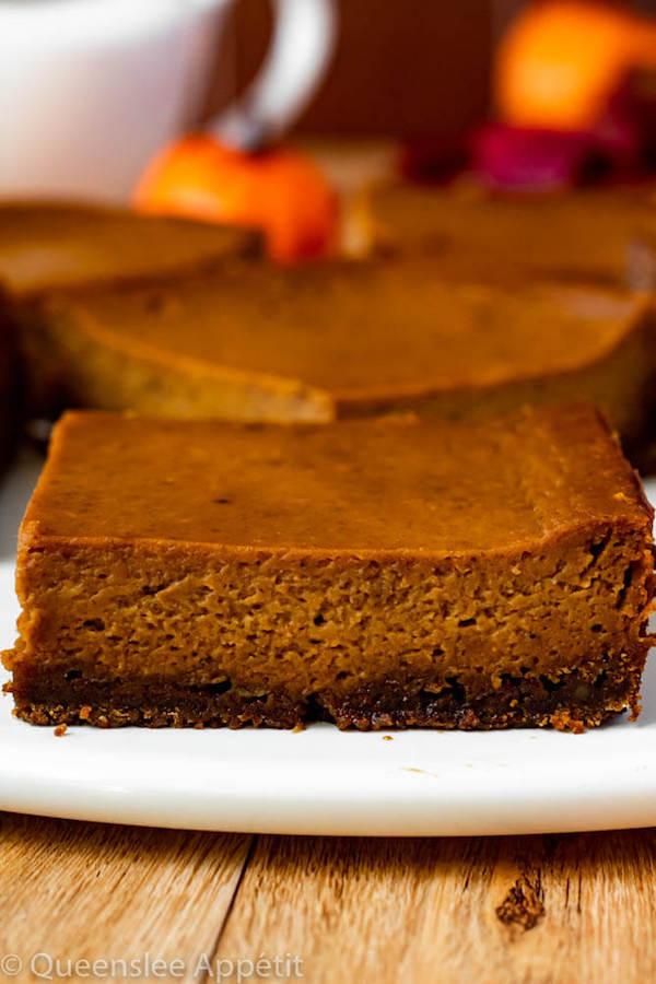 Pumpkin Pie Bars with Gingersnap Crust