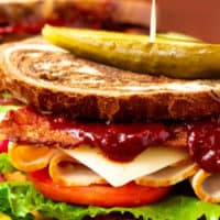 Turkey Sandwiches with Cranberry BBQ Sauce