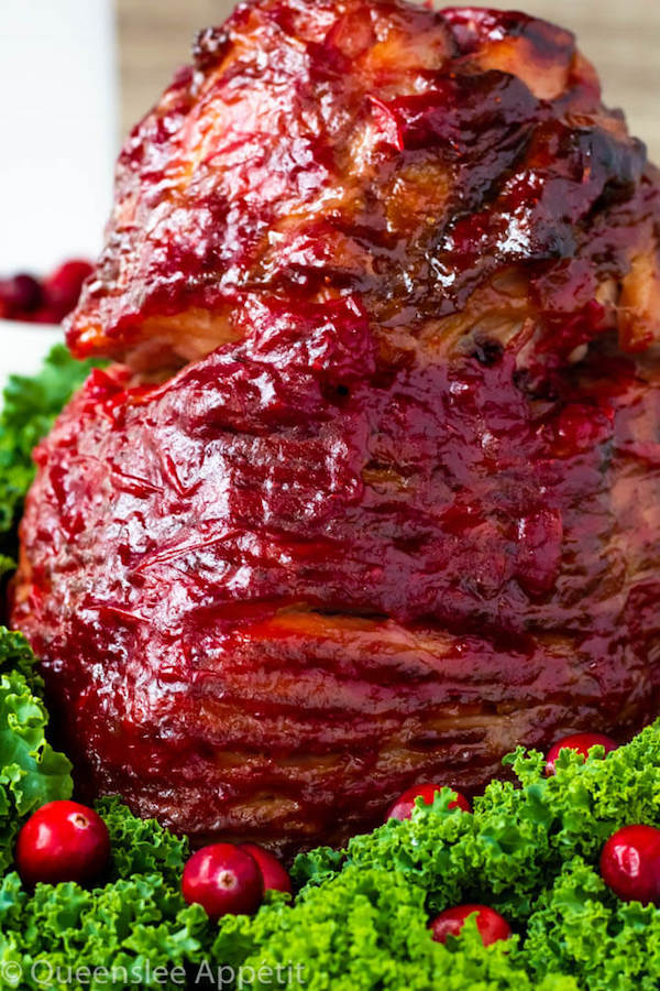 Honey Cranberry Glazed Ham