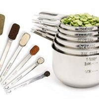 Measuring Cups and Measuring Spoons set by Simply Gourmet. Stainless Steel Measuring Cups and Spoons Set of 12. Liquid Measuring Cup or Dry Measuring Cup Set. Stainless Measuring Cups, Nesting cups