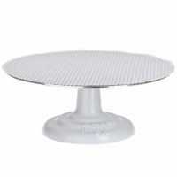"Ateco 612 Revolving Cake Decorating Stand, 12"" Round, Cast Iron Base with ⅛"" Aluminum Top"