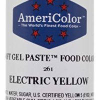 AmeriColor Food Coloring, Electric Yellow Soft Gel Paste, 4.5 Ounce