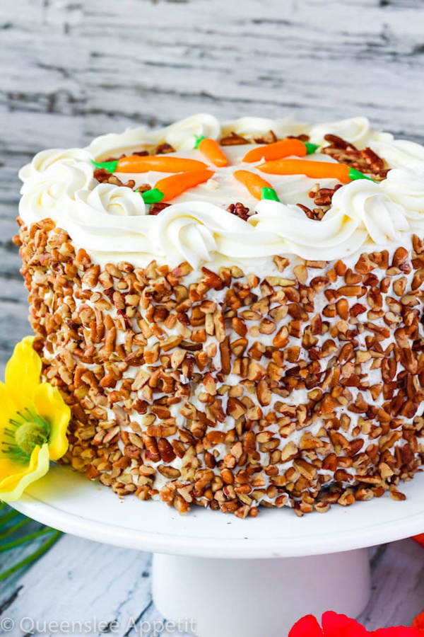Perfect Carrot Cake with Cream Cheese Frosting | Queenslee ...