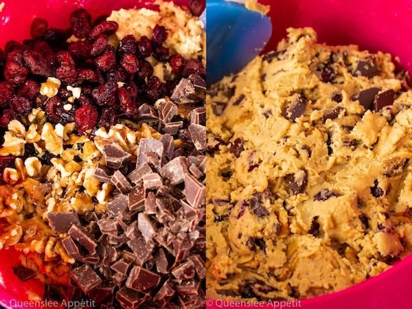 Salted Dark Chocolate Cranberry Walnut Cookies