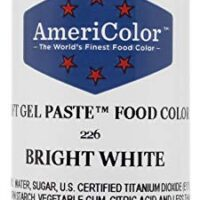 AmeriColor Food Coloring, Bright White Soft Gel Paste, 6 Ounce