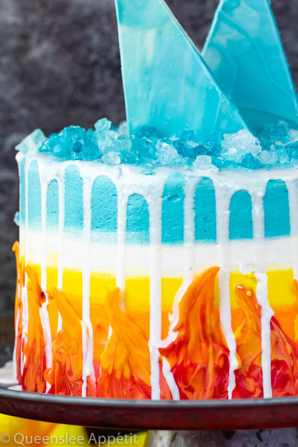 Ice and Fire Cake